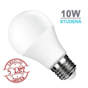 LED21 LED žárovka E27 10W SMD2835 806 lm CCD Studená bílá
