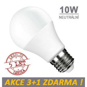 LED21 LED žárovka E27 10W 18xSMD2835 806lm CCD Neutrální bílá, 3+1 Zdarma
