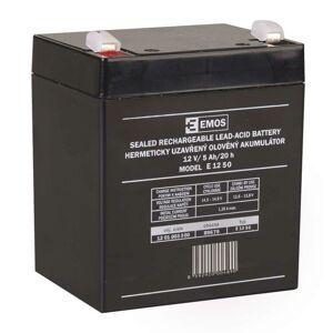 Emos Bezúdržbový olověný akumulátor 12 V/5Ah, faston 6,3 mm B9679