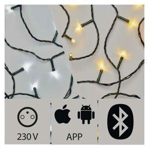 Emos Aplikací ovládaný LED vánoční řetěz, 20m, venkovní, st./t.b. ZY2189