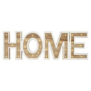 Emos LED nápis HOME dřevěný, 45cm, 2× AA, vnitřní, teplá bílá ZY2205