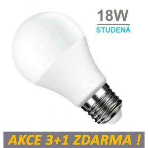 LED21 LED žárovka E27 18W SMD2835 1440 lm CCD Studená bílá, 3+1 Zdarma