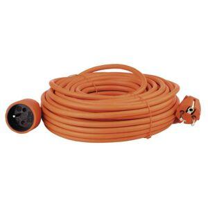 Emos Prodlužovací kabel – spojka, 25m, oranžový P01125