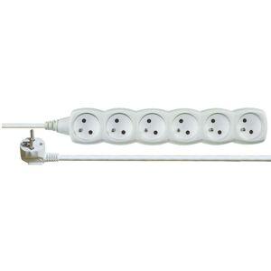 Emos Prodlužovací kabel – 6 zásuvek, 3m, bílý P0613