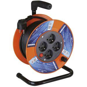 Emos PVC prodlužovací kabel na bubnu – 4 zásuvky, 15m, 1mm2 P194151