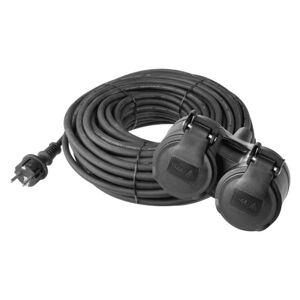 Gumový prodlužovací kabel SCHUKO – 2 zás., 15m, 3× 1,5mm2
