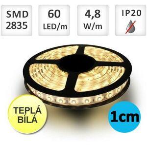 LED21 LED pásek 5m 4,8W/m 60ks/m 2835 Teplá bílá, cena za 1cm