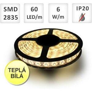PREMIUMLUX LED pásek 60ks 2835 6W/m Teplá bílá, cena za 1m