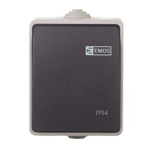 Emos Přepínač nástěnný č. 1,6 IP54, 1 tlačítko A1398