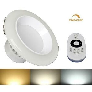 LED21 LED panel DOWNLIGHT 12W CCT stmívatelný 120mm 750lm 230V CCD IP50 CB3257