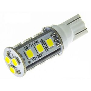 OPTICON LED auto žárovka 10-30V LED T10 15 SMD 2835 Studená bílá