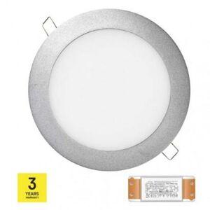 Emos LED panel TRIAK 175mm, kruhový vestavný stříbrný, 12W n. b. ZD1232T ZD1232T