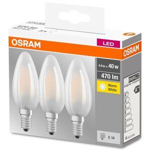 LED žárovka LED E14 svíčka 4,5W = 40W B35 470lm 2700K OSRAM base 3pak OSRLEDW3515