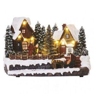 Emos LED vánoční vesnička, 15 cm, 3x AA, vnitřní, teplá bílá DCLW15