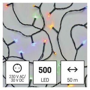 Emos LED vánoční řetěz, 50 m, venkovní i vnitřní, multicolor, časovač D4AM06