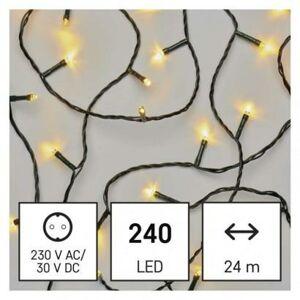 Emos LED vánoční řetěz, 24 m, venkovní i vnitřní, teplá bílá, časovač D4AW05