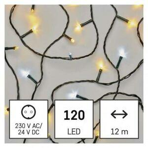 Emos LED vánoční řetěz pulzující, 12 m, venkovní i vnitřní, Teplá bílá/Studená bílá bílá, časovač D4AL04