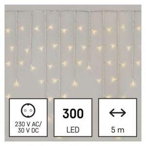 Emos LED vánoční rampouchy, 5 m, venkovní i vnitřní, teplá bílá, ovladač, programy, časovač D4CW02