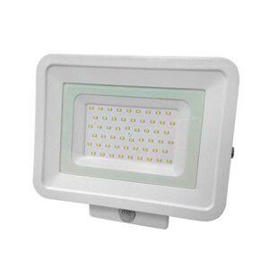 LED21 LED reflektor CLASSIC LINE 2 bílý 50W SMD2835 PIR 4250lm SLIM Studená bílá