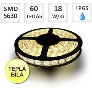 LED21 LED pásek PROFI 60LED/m 5630 18W/m Teplá bílá silikon role 5m