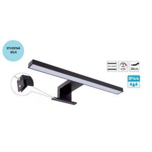 LED21 Koupelnové LED svítidlo AMBER nad zrcadlo 300mm černé 230V 4,5W 220lm studená bílá AMBER-U-CZ-60K-01