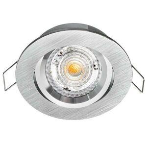 PREMIUMLUX Podhledové bodové svítidlo halogenowa ATENA kulatá aluminiowa stříbrná drapana regulowana sufitowa wpuszczana x Bartycka 116 LUX02503