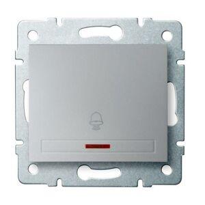 Kanlux 24839 DOMO Zvonkové tlačítko s LED - stříbrná