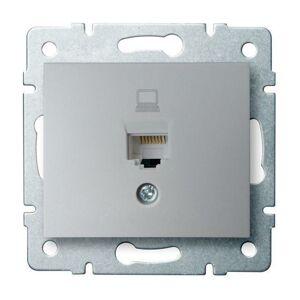 Kanlux 24872 DOMO Datová zásuvka (RJ45Cat 6 Jack) - stříbrná