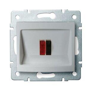 Kanlux 24877 DOMO Reproduktorová zásuvka samostatná - stříbrná