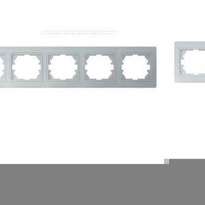 Kanlux 24884 DOMO Pětinásobný horizontální rámeček - stříbrná