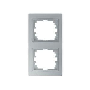 Kanlux 24885 DOMO Dvojnásobný vertikální rámeček - stříbrná