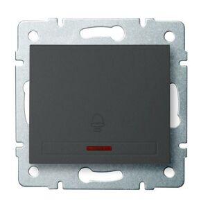 Kanlux 24898 DOMO Zvonkové tlačítko s LED - grafit