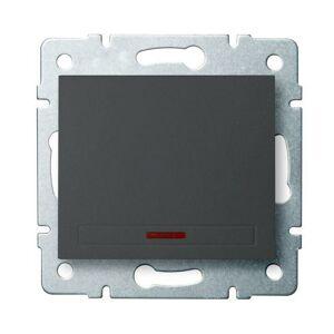 Kanlux 24901 DOMO Jednopólový vypínač s LED - grafit