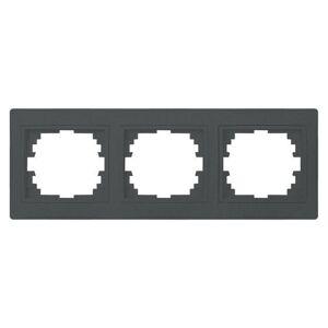 Kanlux 24941 DOMO Trojnásobný horizontální rámeček - grafit