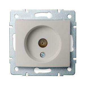 Kanlux 24978 DOMO Anténní zásuvka typu F průběžná - perleťově bílá