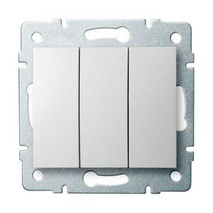 Kanlux 25076 LOGI Trojitý vypínač - č. 3 - bílá