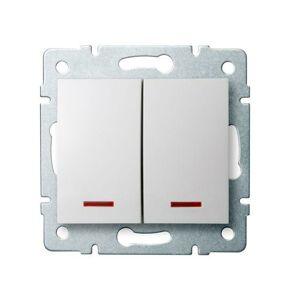 Kanlux 25079 LOGI Sdružený lustrový vypínač s LED - č. 5 - bílá