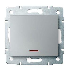 Kanlux 25197 LOGI Jednopólový vypínač s LED - stříbrná