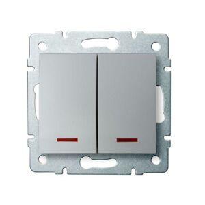 Kanlux 25198 LOGI Sdružený lustrový vypínač s LED - č. 5 - stříbrná