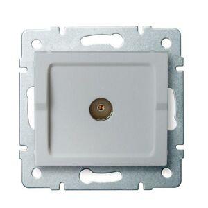 Kanlux 25216 LOGI Anténní zásuvka typu F koncová - stříbrná