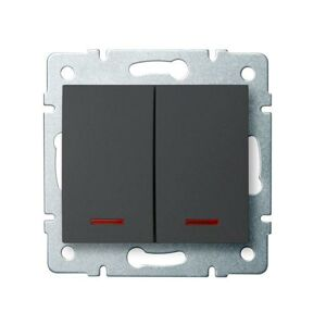 Kanlux 25257 LOGI Sdružený lustrový vypínač s LED - č. 5 - grafit