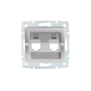 Kanlux 25938 LOGI Adaptér datové zásuvky 2xRJ45 - stříbrný
