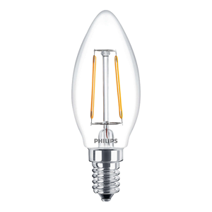 LED žárovka FILAMENT LED E14 2.3W = 25W 250lm PHILIPS B35 2700K 300D PHILED00126