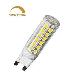 LED21 LED žárovka 6W 88xSMD2835 G9 600lm CCD Studená bílá STMÍVATELNÁ