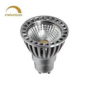 LED21 LED žárovka 6W COB GU10 480lm 50° CCD Studená bílá STMÍVATELNÁ