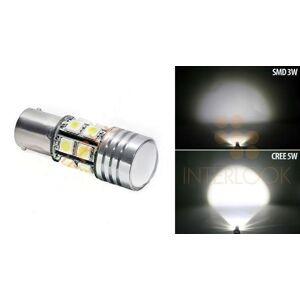 Interlook LED auto žárovka 12V BAY15D 7,4W CREE Q5 + 12SMD, dvouvláknová