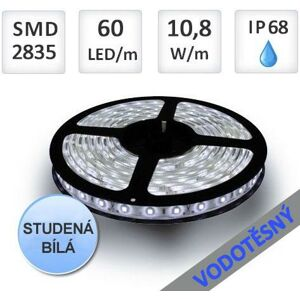 LED21 LED pásek 5m 60ks 2835 10,8W/m IP68 vodotěsný,Studená bílá