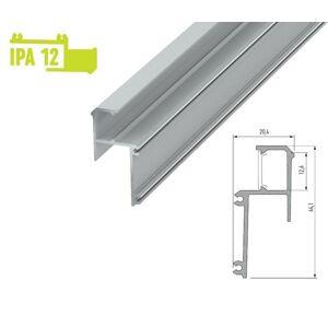 LED21 Hliníkový zakončovací profil IPA12 2m pro LED pásky, stříbrný