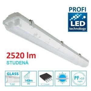 LED21 KOMPLET PROFI Prachotěsné svítidlo +1 LED trubice T8 18W 2520lm 120cm Studená bílá TRU7926065