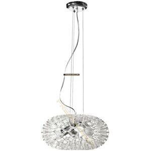 Lampada Designe Stropní závěsné svítidlo LOLANDA 360x1500mm 3xE27 transparentní sklo, kov LUX2065P01ST